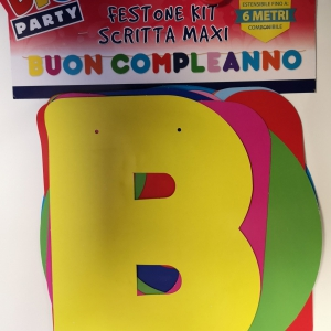 Festone Buon Compleanno Multicolore
